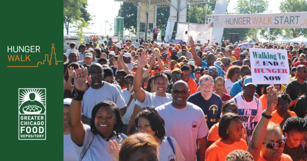 Hunger Walk, Chicago, Soldier Field