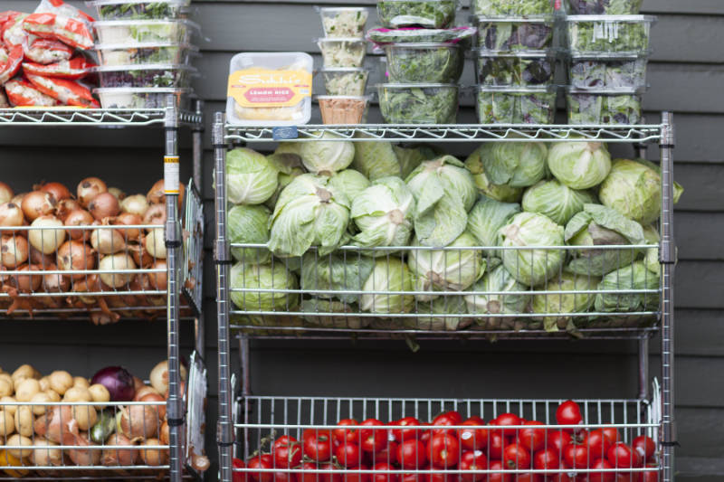 Fresh produce available through our weekly food pantry.